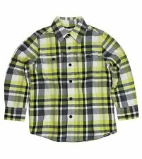 NWT 77kids by American Eagle Boys Size 2T Yellow & Black Plaid Flannel Shirt NEW
