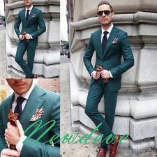 Turquoise Groom Groomsmen Tuxedos Formal Business Men's Slim Fit Suits Lapel Hot