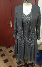 Gray Mum For Wedding Dress Mother Of The Bride Dress Free jacket Real Picture