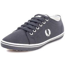 Fred Perry Kingston Twill Unisex Trainers Black New Shoes