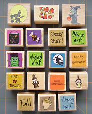 FALL RUBBER STAMPS ~ LITTLE HALLOWEEN THANKSGIVING & AUTUMN DESIGNS ~ YOU PICK!!