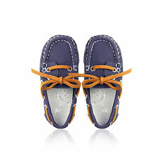 NEW KIDS Boys Slip on Loafers casual SHOES in Navy size 3 to 12