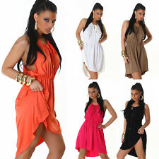 Sexy Tunic Dress Mullet Style Party Summer Multicolour Rubber Band Cocktail New