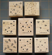 "STAMPIN UP ""MINI BACKGROUND"" RUBBER STAMPS ~ FUN VERSATILE DESIGNS ~ YOU PICK"