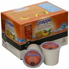NEW 6 Dozen Pack - Snapple Peach Flavor Ice Green / Black Tea Keurig K Cup Pods