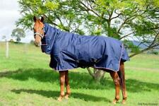 Navy 600D Winter Waterproof Turnout Combo Horse Rug 300G Fill