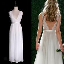 Vintage Womens Chiffon Formal Prom Party Evening Gown Wedding Bridesmaid Dress