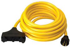 Generator Extension Cord, 25 ft, 3 Outlets, 20 AmpGenerator Extension Cord, 25 f