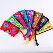 Women Retro Boho Ethnic Embroidered Wristlet Clutch Bag Handmade Purse Wallet