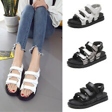 Women's Open Toe Sandal Gladiator Style PU Leather Wedge Sandals Casual Shoes H