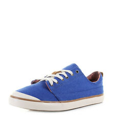 Womens Reef Walled Low Blue Casual canvas Sneakers Trainers Shu Size