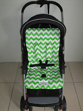 FUNKY BABYZ-Lime chevron universal pram/car seat liner-Size,Buy Covers options