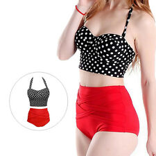1 Set Bikini Hot Polka Dot Bra + Panty Women New Sexy Pin Up