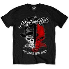 OFFICIAL LICENSED - FIVE FINGER DEATH PUNCH - JEKYLL & HYDE T SHIRT METAL FFDP