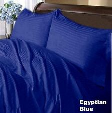 1000TCEgyptian Cotton UK Bedding Linen Collection Egyptian Blue Stripe All Size""