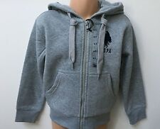 NEW U.S POLO ASSN GREY ZIP HOODIE FOR BOYS AGE 2 3 4 5 6 7 8 9 10 11 12 13 YEARS