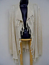 Plus Size 3X STRETCH Wrap SHRUG Top OPEN KNIT Cover-Up FRINGE Sweater Trendy NWT