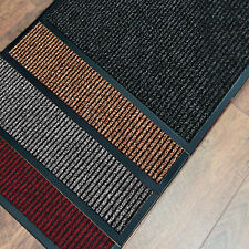 HEAVY DUTY BARRIER MAT NON SLIP RUBBER RIBBED RUGS BACK DOOR HALL KITCHEN LARGE