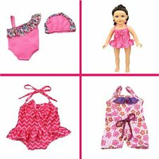 """18""""American Girl Doll Clothes Flower Swim Suit Bathing Water Skirt Dress Outfit"""