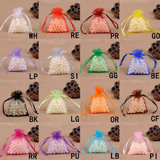 New 50pcs Organza Gift Bags Wedding Favor Bags Jewelry Pouches  Candy bags