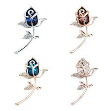 1Pcs Gift Alloy Rhinestone Rose Flower Brooch Clothing Crystal jewelry Brooches