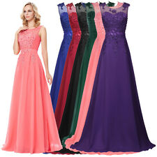 Long Bridesmaid Evening Formal Ball Prom Chiffon Dresses Size 10 12 14 16 18 20
