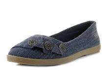 Blowfish NEW Garden navy cozumel linen womens flat ballet fashion shoes size 3-8