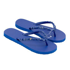 NEW Tory Burch Jeweled Flip Flops Sandals Royal Navy Size 7, 9