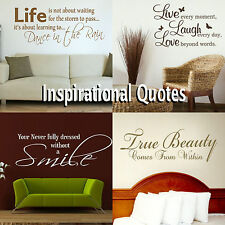 Inspirational Quote Wall Sticker Inspiring Transfer Graphic Decal Decor Stencils
