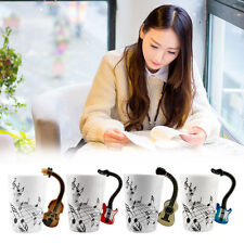 Ceramic Mug Cup Musical Instrument Note Style Coffee Milk Cup Christmas Gift VE