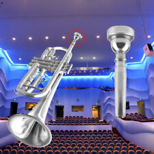 Trumpet Mouthpiece for Bach 3C Size Silver Plated Musical Instrument New VE