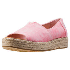 Toms Platform Alpargata Womens Espadrilles Coral New Shoes