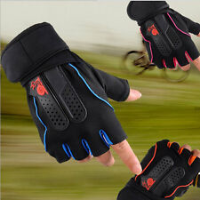 Men's Weight Lifting Gym Fitness Workout Training Exercise Half Gloves VE