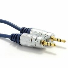3.5mm Stereo Jack to Jack Pure OFC 24K Gold Premium Aux Audio Cable 1m 2m 3m 5m