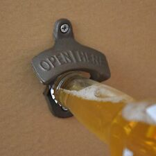 Vintage Antique Style Bar Pub Beer Soda Top Bottle Opener Wall Mount VE