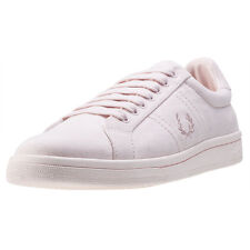 Fred Perry B721 Brushed Cotton Womens Trainers Blush Pink New Shoes