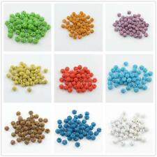 50pcs Rhinestone Crystal Pave Clay Spacer Ball Beads for Beading Jewelry Making