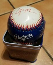 LA DODGERS COIN Bank Safe with printed Autograph Baseball