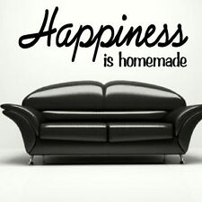 Happiness - Large Vinyl Wall Quote Large Wall Decal Big Vinyl Quotes QU67