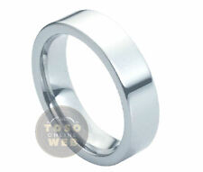 Ladie's 6mm Pipe-Cut High Polished Tungsten Carbide Ring TS0200