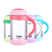 ONEISALL Glass Water Bottle Double Wall BPA Free Glass Tea Infuser Bottles Mug
