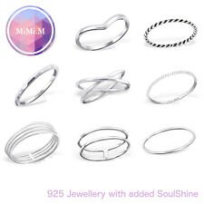 Sterling Silver 925 Simple Stacking Midi Ring Toe Knuckle Top Finger
