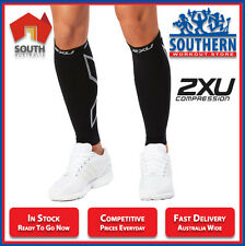 2XU COMPRESSION CALF SLEEVES UNISEX UA2595b ACTIVE WEAR RECOVERY TRAINING BLACK