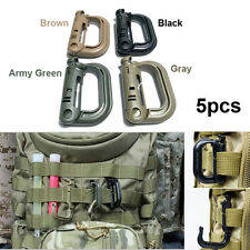 5PCS Military Products Grimloc Molle Locking D-ring EDC Webbing Buckle Camping