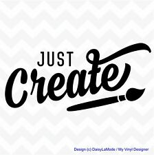 JUST CREATE vinyl wall art sticker home decal playroom classroom child bedroom