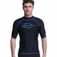 Fast Drying Rash Guard Shirt Short Sleeve UV UPF 50+ Sun Protection Men