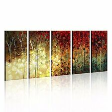 Hand Painted Oil Paintings Landscape Trees Forest Modern Abstract Contemporary