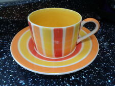 WHITTARD OF CHELSEA CUP AND SAUCER - STRIPES