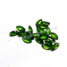 Natural Chrome Diopside 2x4mm-5x10 Marquise Calibrated Size Green Color Gemstone