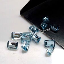 Natural Sky Blue Topaz Octagon Cut Calibrated Size 6x4mm - 8x10mm Loose Gemstone